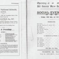 Opening Event All Saints New School :  1902