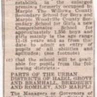 """Material on """"Comprehensive Education in Marple"""" : 1970's"""